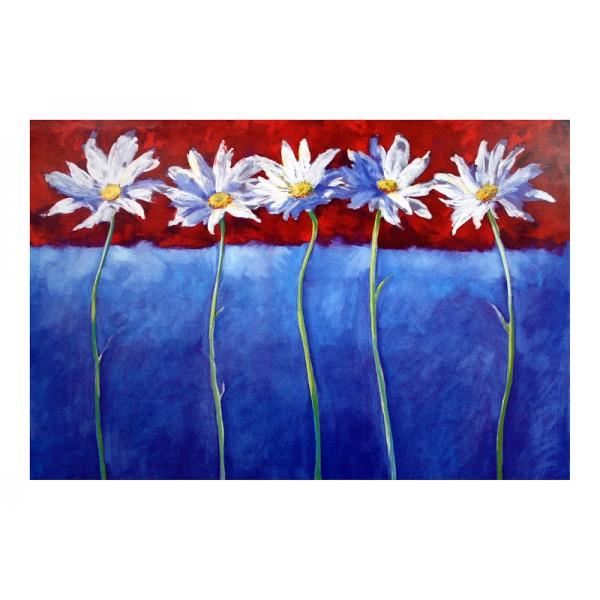 0291a  Ασπρα λουλουδια 90χ60
